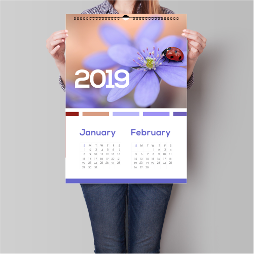A2 Wall Calendar (13 Sheets)