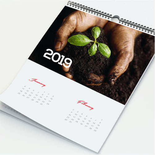 A2 Wall Calendar (7 Sheets)